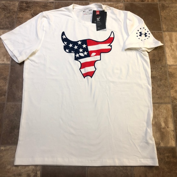 Under Armour x Project Rock Freedom Brahma Bull USA Mens Shirt